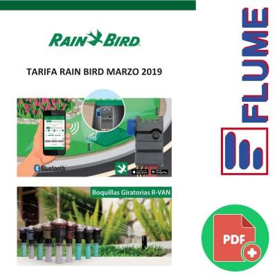 Tarifa RainBird Marzo 2019
