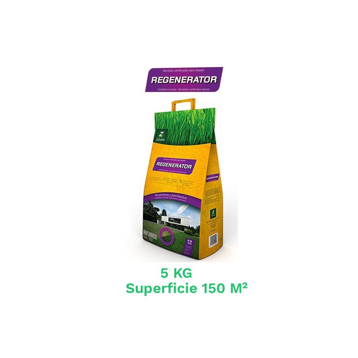 Saco 5 kg semillas cesped resiembra regenerator