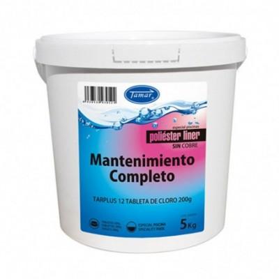 Cloro de mantenimiento (poliester / liner) tableta 200grs bote 5kg