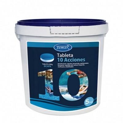 Cloro 10 acciones bicapa tabletas 200 gr bote 5kg