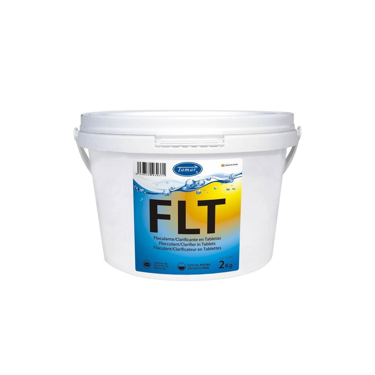 Floculante piscinas tabletas 40gr bote 2 kg