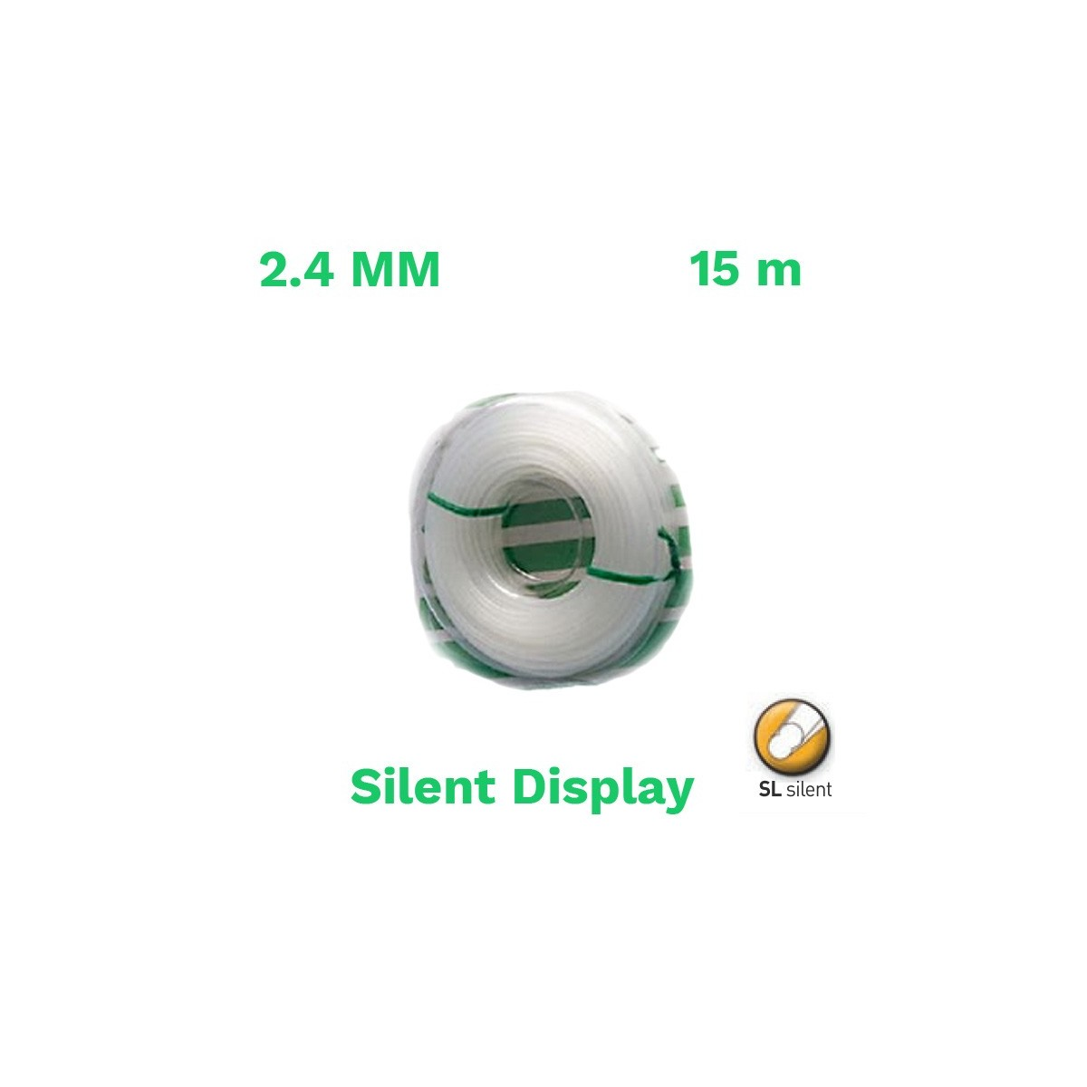Echo hilo nylon silent display 2.4mm 15 m