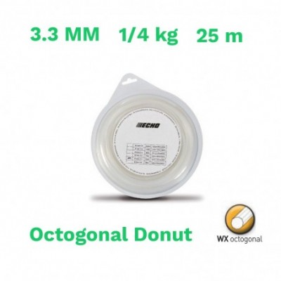 Echo hilo nylon octogonal donut 3.3 mm 1/4 kg 25 m