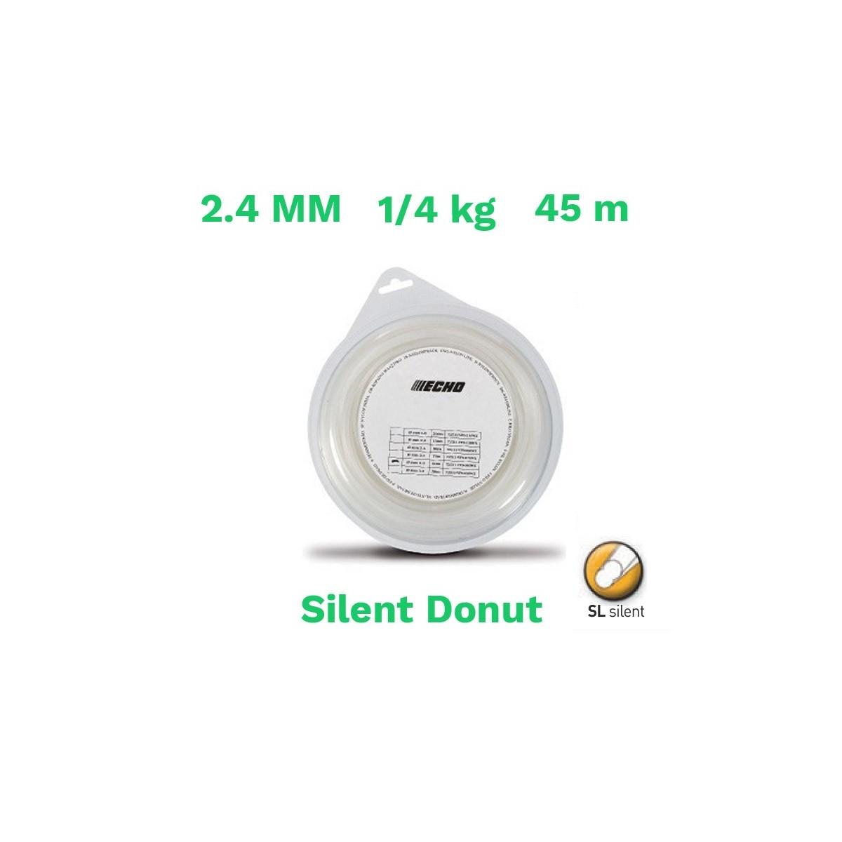 Echo hilo nylon silent donut 2.4mm 1/4 kg 45 m