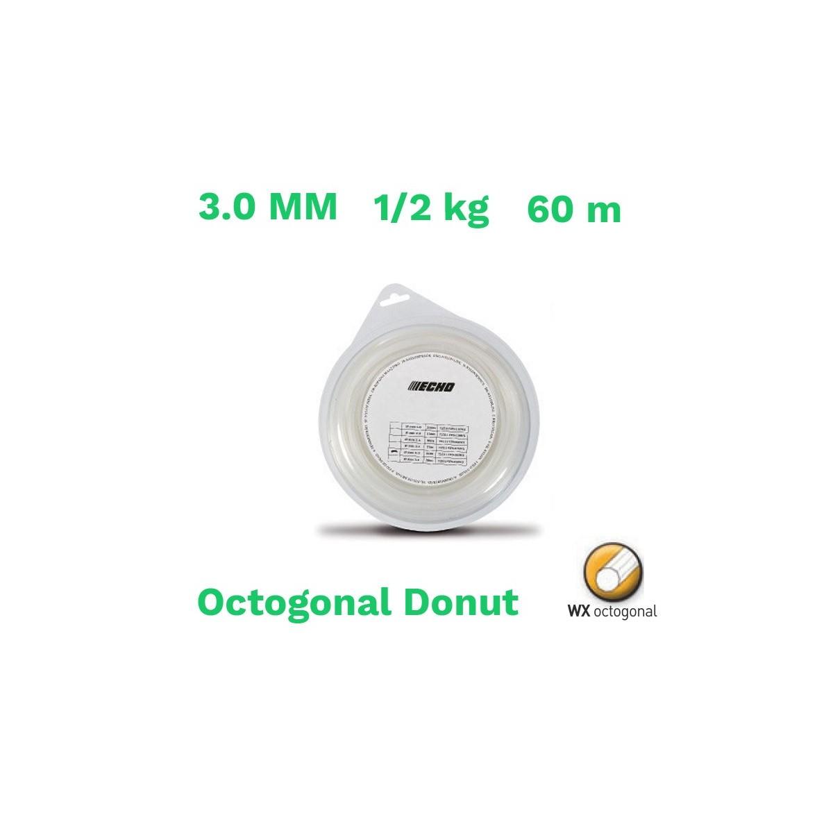 Echo hilo nylon octogonal donut 3.0 mm 1/2kg  60 m
