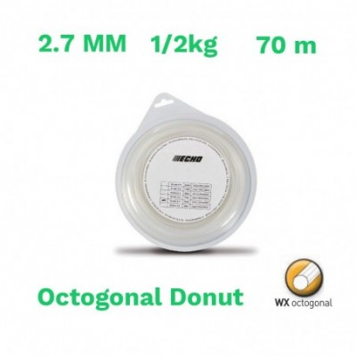 Echo hilo nylon octogonal donut 2.7 mm 1/2kg  70 m
