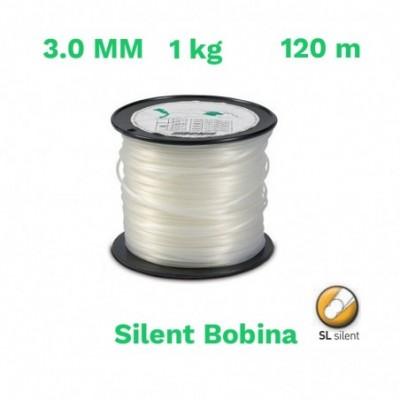 Echo hilo nylon silent bobina 3.0mm 1 kg 120 m