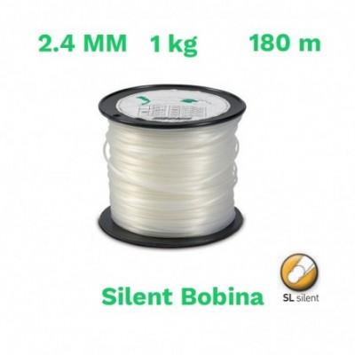 Echo hilo nylon silent bobina 2.4mm 1 kg 180 m