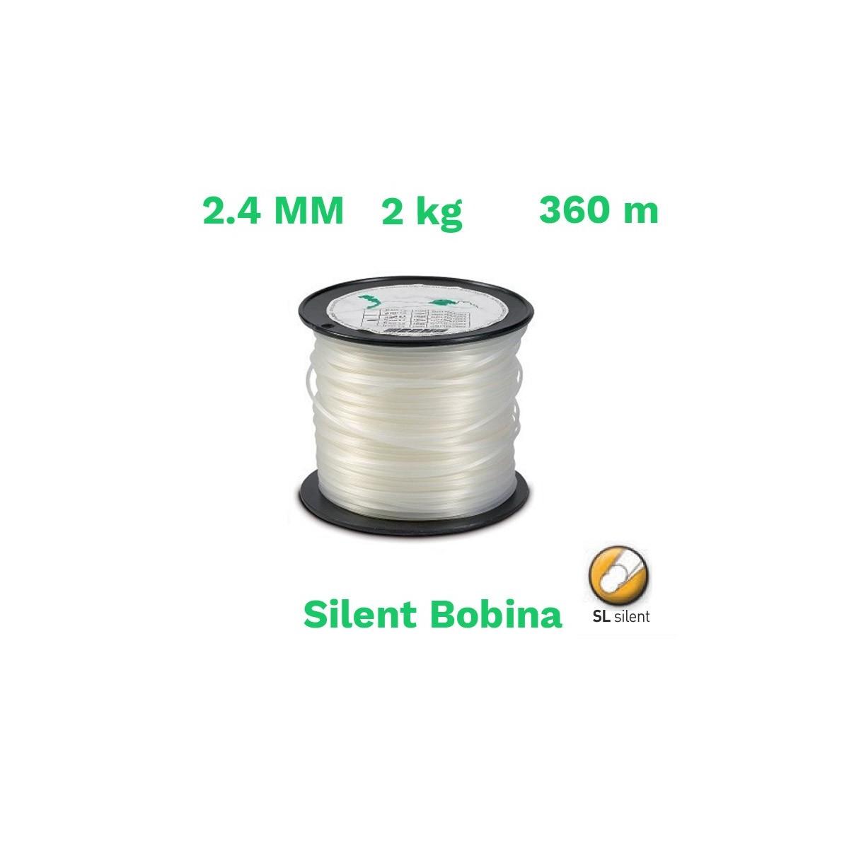 Echo hilo nylon silent bobina 2.4mm 2 kg 360 m