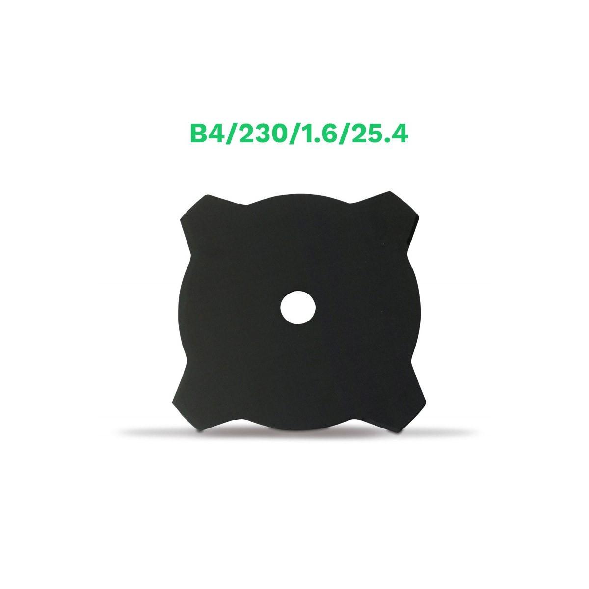 Echo disco metalico 4 puntas b4/230/1.6/25.4