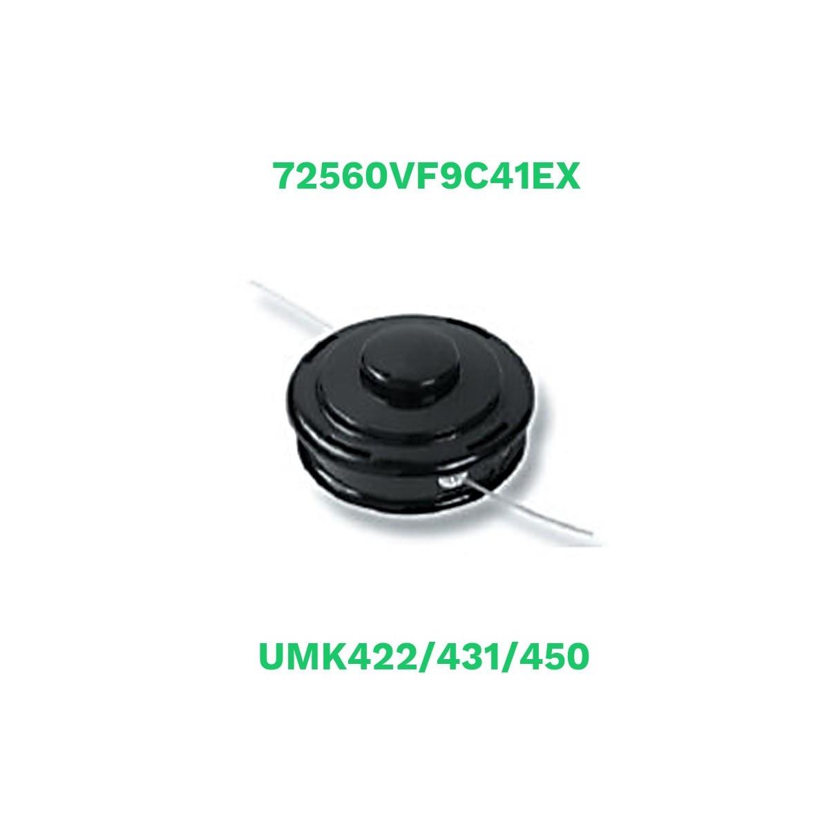 Honda cabezal semiautomatico nylon umk422/431/450 (72560vf9c41ex)