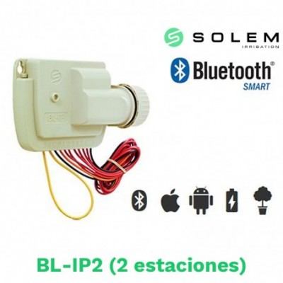 Modulo programador solem dc 9v bl-ip2 2 estaciones bluetooth