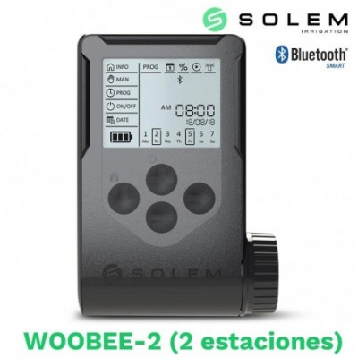 Programador solem woobee 2 estaciones (bateria/pantalla/bluetooth)