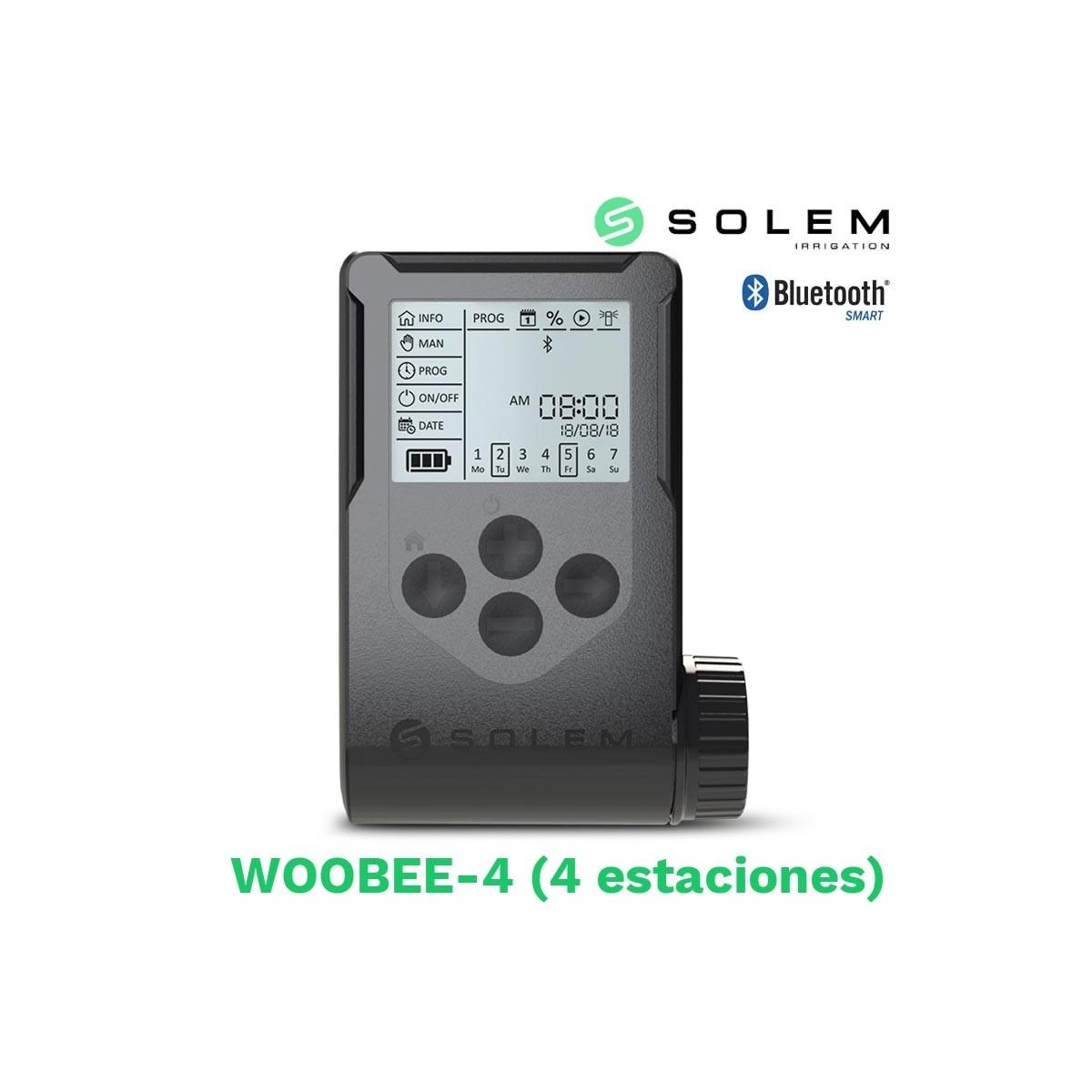 Programador solem woobee 4 estaciones (bateria/pantalla/bluetooth)