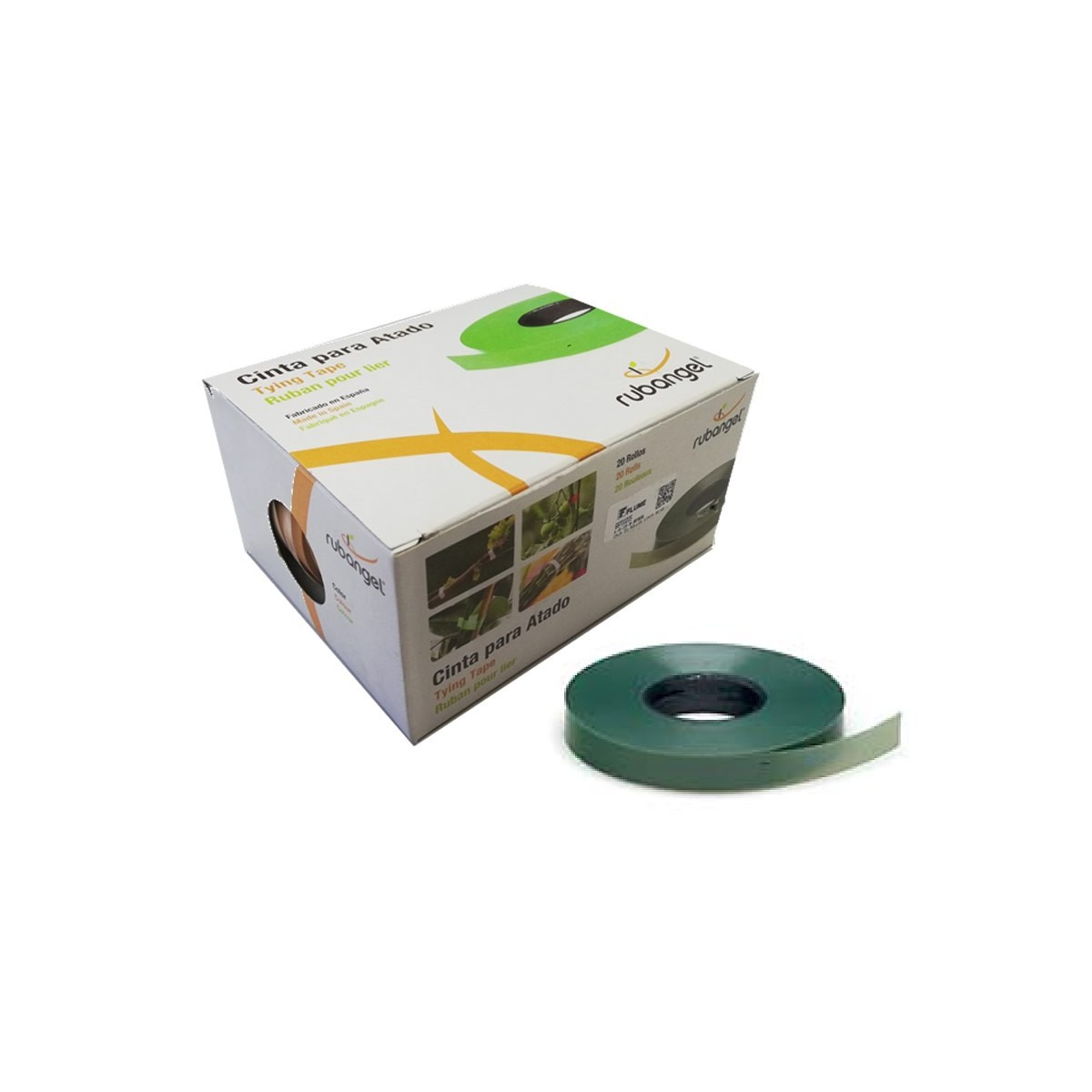 Caja 20 rollos cinta verde oliva para atadora manual