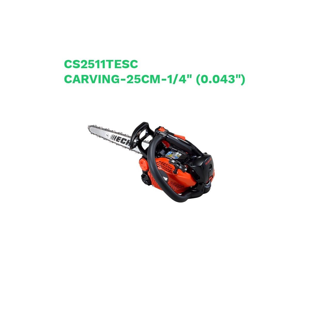 "Echo motosierra cs2511tesc carving-25cm-1/4"" (0.043"")"