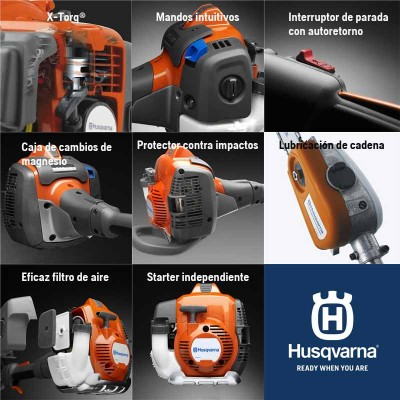 """Husqvarna podadora altura 525p4s-(30cm-12"""")-(240cm) cadena(3/8-h37-40e)"""