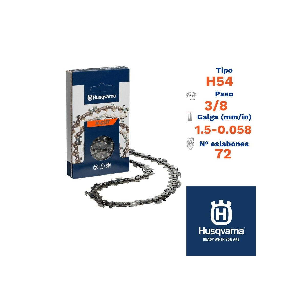 Husqv. cadena cortada h54 1