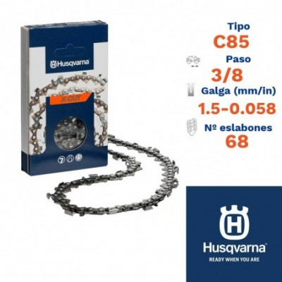 Husqv. cadena cortada c85 1