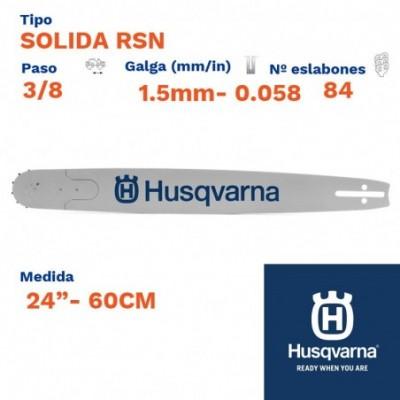 """Husqvarna espada solida rsn 1.5mm 84  eslabones-pc 3/8  24""""- 60cm"""