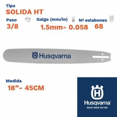 """Husqvarna espada solida ht 1.5mm 68 eslabones-pc 3/8   18""""- 45cm"""
