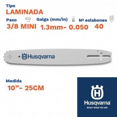 "Husqvarna espada laminada 1.3mm 40 eslabones-pc 3/8 mini 10""- 25cm"