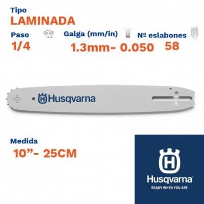 "Husqvarna espada laminada 1.3mm 58 eslabones-pc 1/4   10""- 25cm"