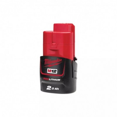 Bateria milwaukee  m12 b2 red lithium-ion 12v - 2