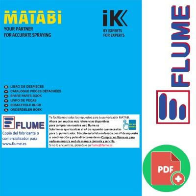 Libro de despieces para pulverizadores y sulfatadoras Matabi en flume 2021