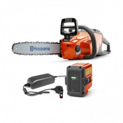 "Husqvarna motosierra bateria-36v kit 120i-(bli20 + qc80)-(30cm-12"") (3/8-h38)"