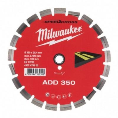 Milwaukee disco corte diamante speedcross asfalto add 350mm