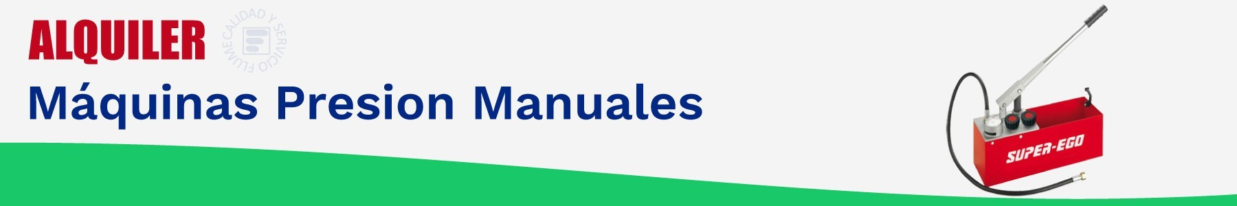 Alquiler maquinas presion manuales