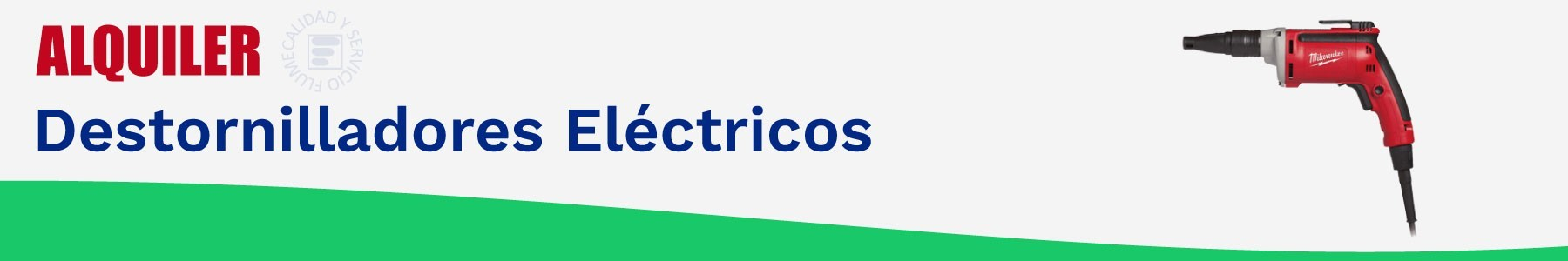 Alquiler destornilladores electricos